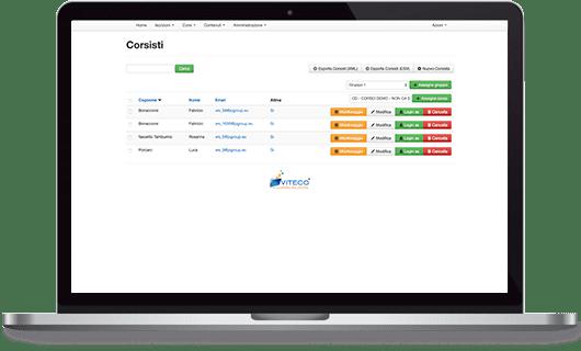 VITECO e-learning Solutions Gestione Corsisti e-learning