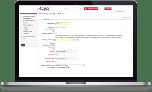 e-Logos 3.0 gestione profilo utenti